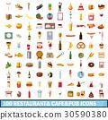 100, restaurant, icons 30590380