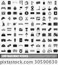 100 鐵路 圖標 30590630