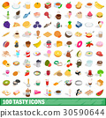 100, tasty, icons 30590644