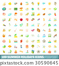 100,summer,icons 30590645