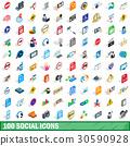 100, social, icons 30590928