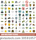 100, military, icons 30591057