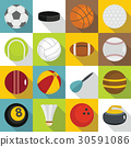 sport, balls, icon 30591086