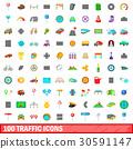 100, traffic, icons 30591147