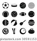 sport, balls, icon 30591153