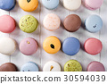 Traditional colorful french macarons 30594039