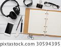桌子 辦公桌 文具 30594395