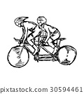 two sport men on track cycling  30594461