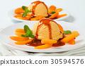 Apricot ice cream dessert 30594576