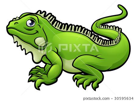 Iguana Lizard Cartoon Character 30595634