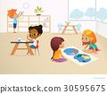 Multiracial children in Montessori classroom 30595675