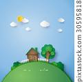 house, grass, green 30595818