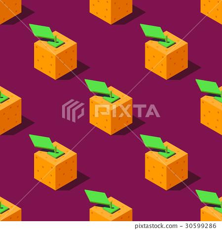 Isometric oranges illustration. 30599286