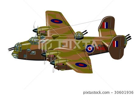 Cartoon retro bomber 30601936