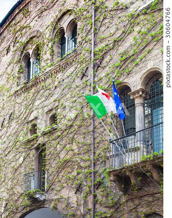 facade of medieval house on via santa lucia 30604766