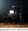 Classic interior furniture table lamp laptop 30605599