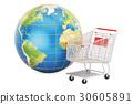 online, globe, earth 30605891