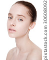Beauty fashion model with natural makeup skin care 30608092