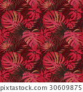 vector seamless beautiful artistic bright tropical 30609875