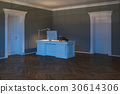 Luxury home cabinet with doors. Night scene 3d  30614306