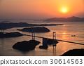 【Setonai Shimanami Kaido】Kurushima峽谷Ohashi日落視圖 30614563
