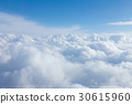 Natural soft white clouds and blue skyline 30615960