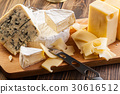 Set of different cheeses 30616512