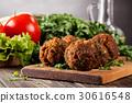 Chickpea falafel balls with vegetables 30616548