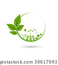 Green ecology city and sustainable logo 30617693