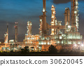 Oil and gas refinery at twilight   30620045