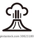 벡터, 분화, 화산 폭발 30623180