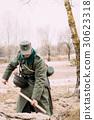 Unidentified Re-enactor Dressed As A German 30623318