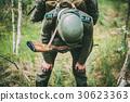 Tired Re-enactor Dressed As German Wehrmacht 30623363