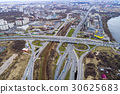 Aerial view of a freeway intersection 30625683