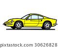 意大利歷史跑車黃色 30626828