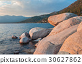 Beach, background, rocks 30627862