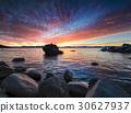 海灘 背景 岩石 30627937