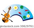 小提琴 睡莲 荷花 30629761