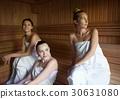 sauna, group, towel 30631080