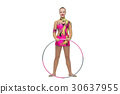 Beautiful teenage gymnast girl 30637955