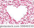 Abstract repeating Heart shape background 30640330