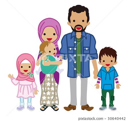 젊은 가족 무슬림 30640442