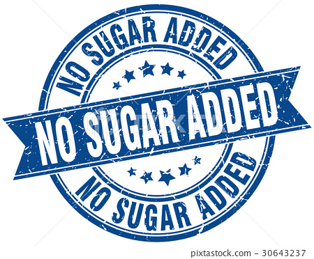no sugar added round grunge ribbon stamp 30643237