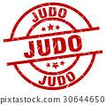 judo round red grunge stamp 30644650