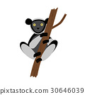 Vector image of the Cartoon Indri 30646039