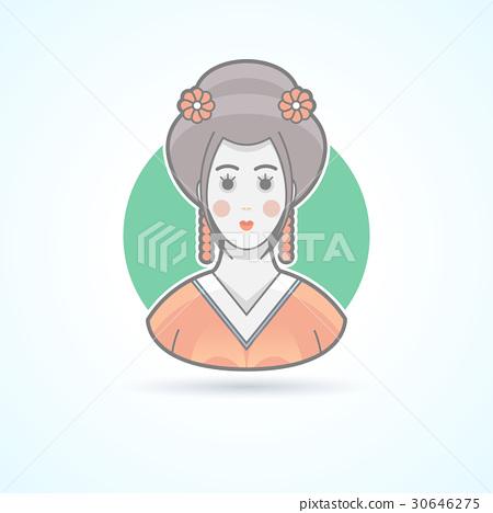 Geisha, japanese traditional woman dress 30646275