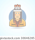 Icon of a Red Indian man an traditional cloth 30646285