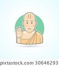 Buddhism monk, Tibetan novice icon 30646293