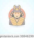 Samurai, japanese warrior icon 30646299
