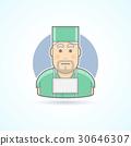 Surgeon, medicine doctor icon. 30646307